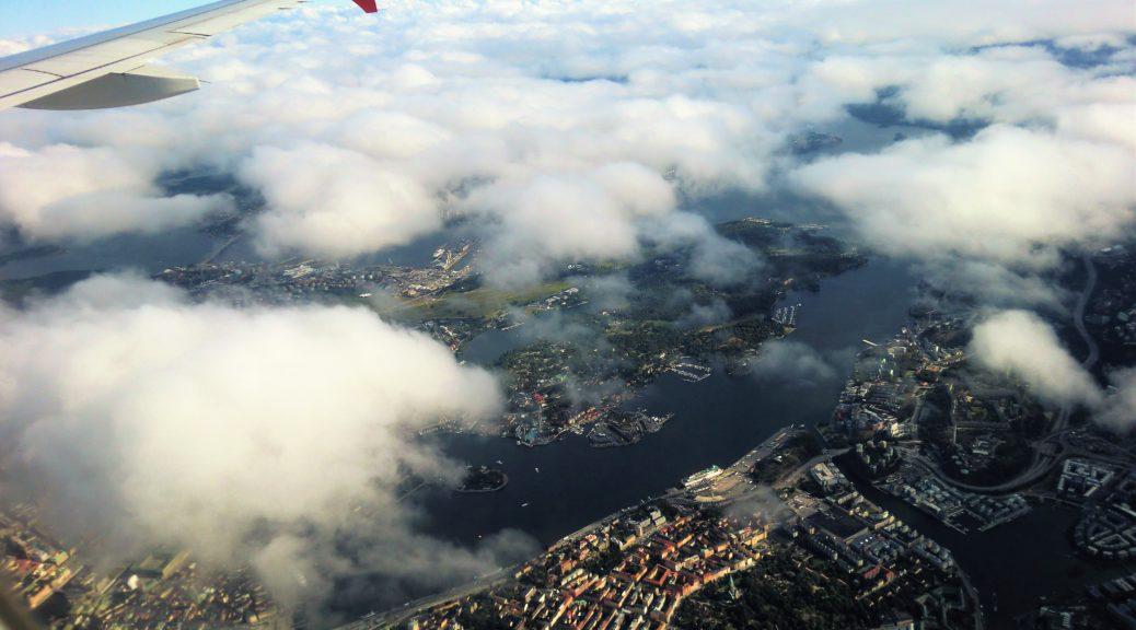Landeanflug auf Stockholm