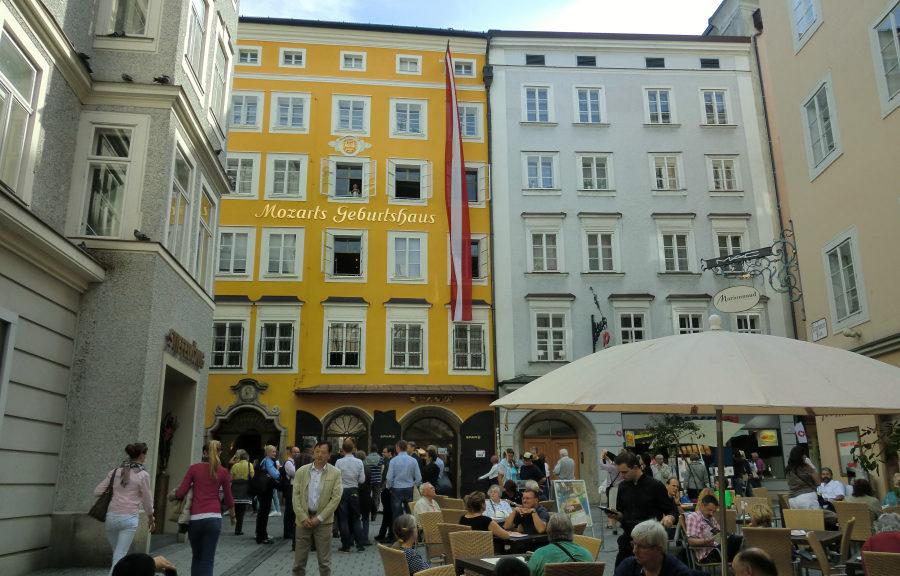 Mozarts Geburtshaus in der Salzburger Getreidegasse