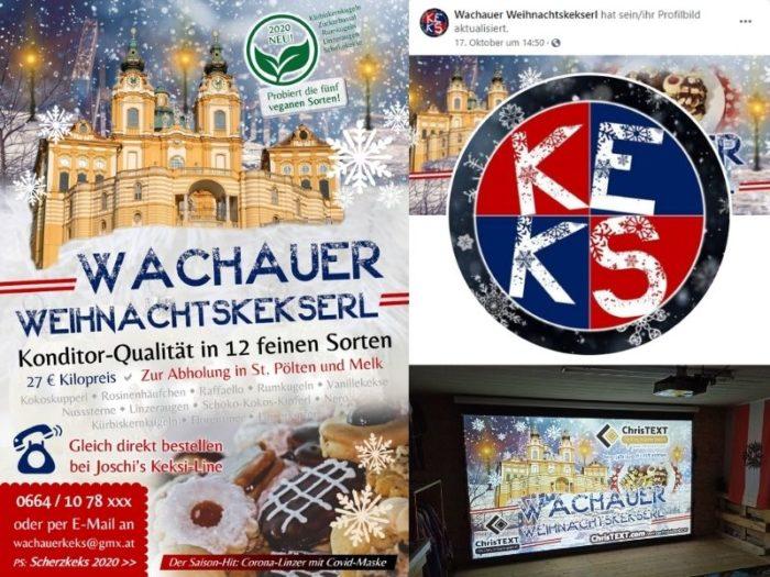 Start der Kampagne für die Wachauer Weihnachtskekserl 2020
